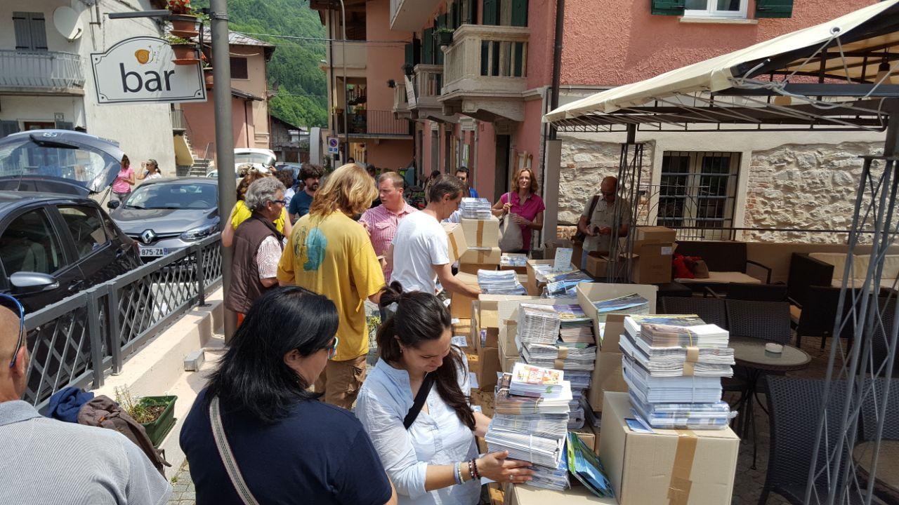 La distribuzione dei materiali informativi