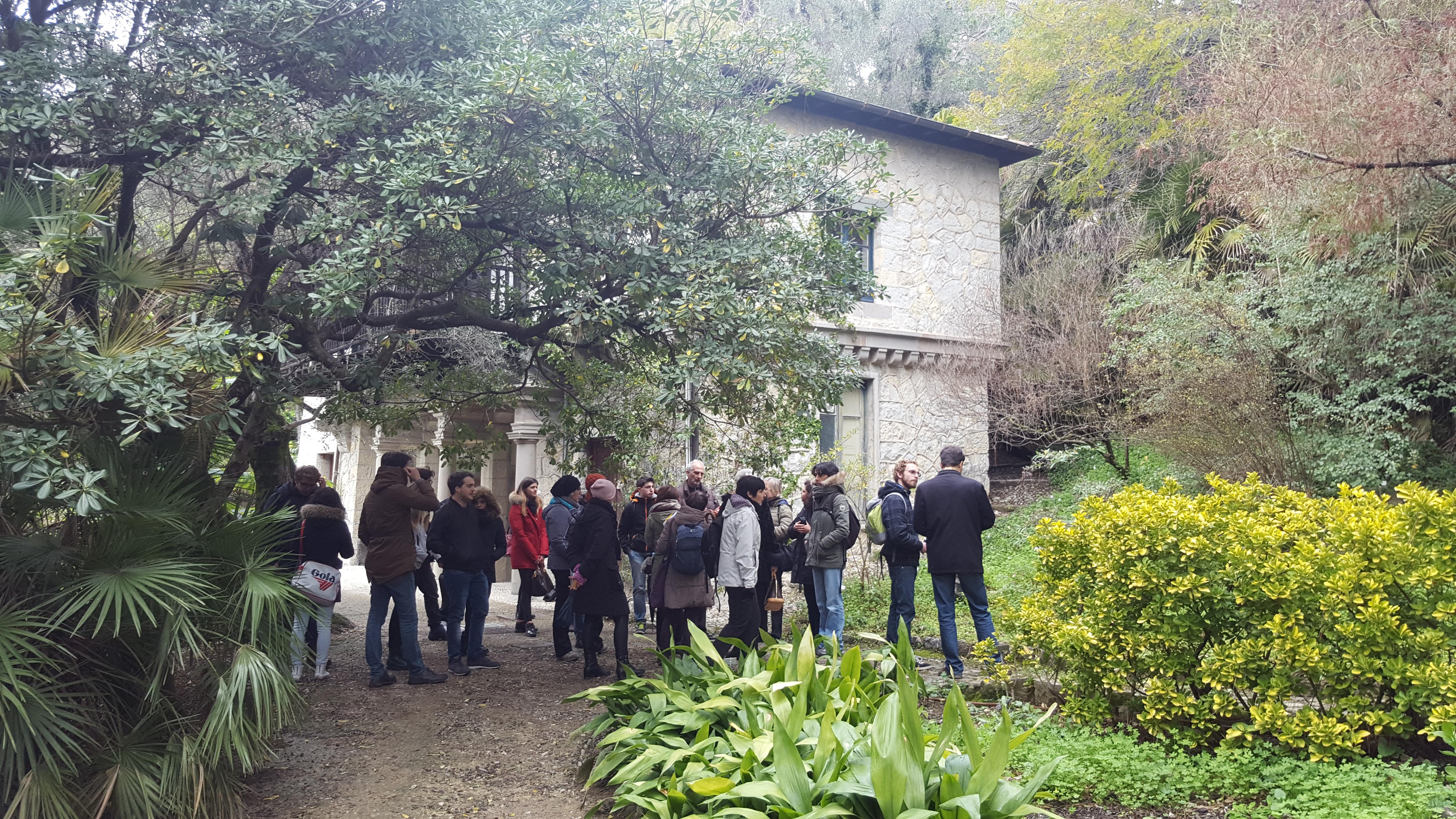 Partecipanti al seminario presso Jardin Botaniq...